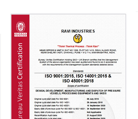 ISO 9001:2008 and BS OHSAS 18001:2007 Certifications